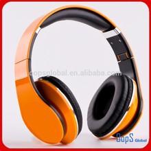 Free sample 2015 Good quality headphone CE,ROHS,FCC Foldable high low studio promotional headphone
