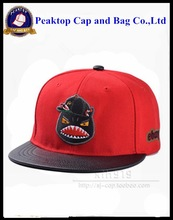 Big flat brim acrylic sport snapback cap embroidery logo customized design is accept