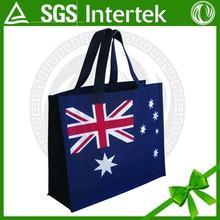 2015 flag designs printing custom size hand non woven shopping bag