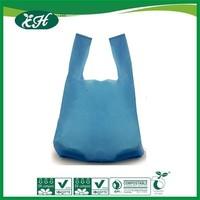 wholesale custom yellow plastic heavy duty t-shirt bag for supermarket shopping