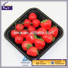 black white transparent plastic fruit tray packaging box