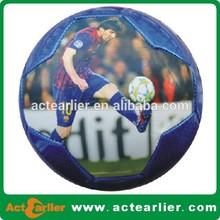custom Messi photo soccer ball/football