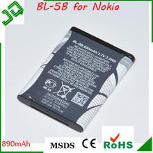 3.7V 890 mAh BL-5B Battery For Nokia N90 3230 5300 5070 6121 6080 (M2304)