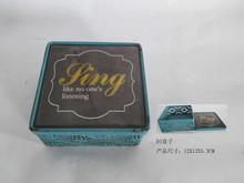 Jewelry Box, Jewelry Trinket Box, Vintage Square Metal Jewelry Box Small