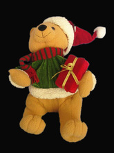 new arrival christmas stuffed toy cheap soft plush standing teddy bear with gift box