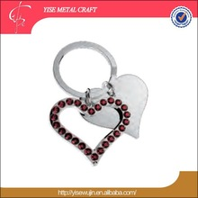 high quality Valentine's day gifts decorative heart shape metal key chain
