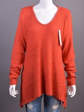 round neck long sleeve pullover women sweater 100% pure acrylic