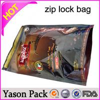 YASON antistatic ziplock bags aluminium foil ziplock bags for chemical packing 100mg 400mg hookah blast herbal incense bag with