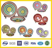 strip stoneware dinnerware 16pcs handpainted wholesale