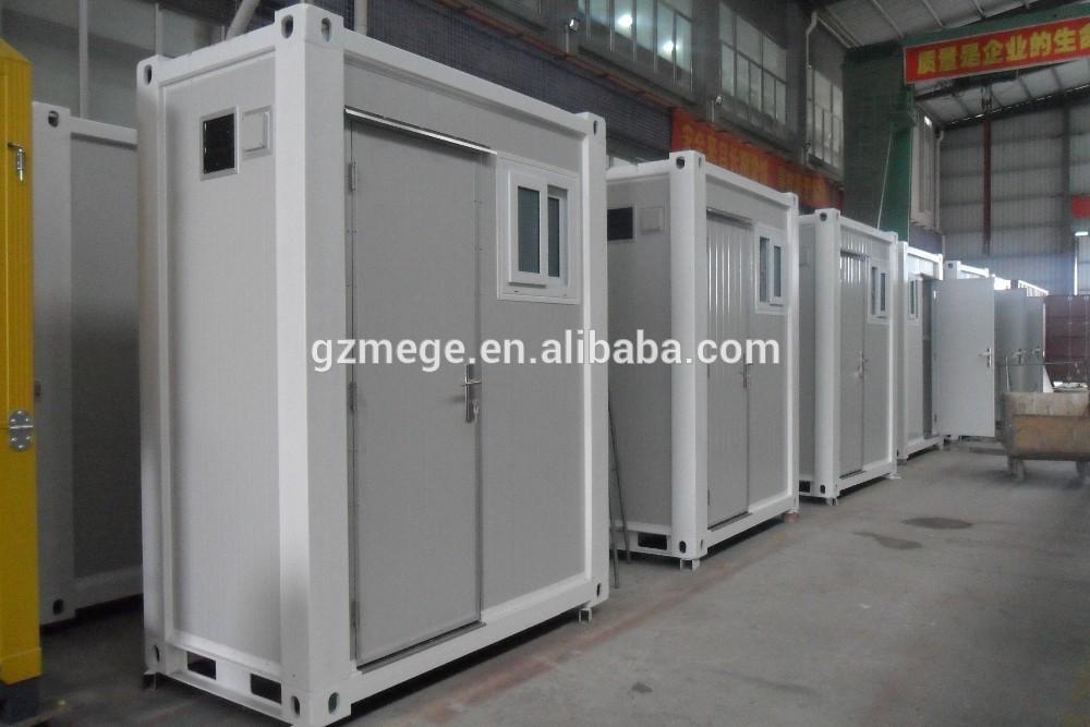 Mini Blanc Mobile Container Toilettes Avec La Lumi Re Et