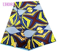 UH085 new arrival super wax printed fabric ankara material design for wax shoes and bag