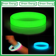 Customized printing glowing silicone hand bands
