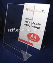 plastic sample menu card design table menu holder stand for bar and restaurant