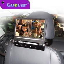 Goocar 998DVD Super Slim and flip down 220 degree 9 inch car dvd headrest