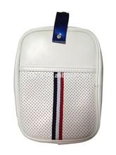 classic design premium PU golf tee bag golf accessory pouch white