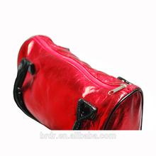 Professional Factory Manufacturer Big Brand Shiny Red PU Lady Handbag