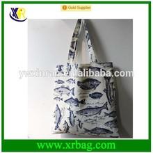 2015 new eco fruit sublimation imprint shark cotton bag