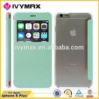 Candy color case for iphone 6 plus wallet case