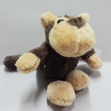 USD $ 0.75 stock plush animal monkey toy / stuffed mini keychain toy monkey