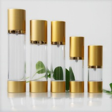 15ml 30ml 50ml 80ml 100ml full capacity high clear round plastic as cosmetic airless bottle