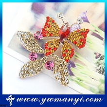 new style silver plated shining zinc alloy imitation jewellery one gram gold broochs