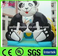 panda inflatable bouncer / inflatable bouncy castle / sale cheap bouncy castle