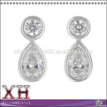 Lovely Silver Tear Drop Earrings Dangle Earrings Double Teardrop Earrings