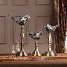 2015 Professional custom a set of three lucky birds resin desktop crafts interior decor
