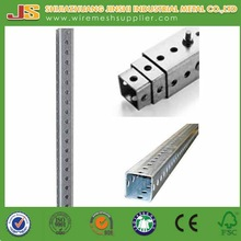 10ft Length Galvanized Perforated Steel Square Sign Post