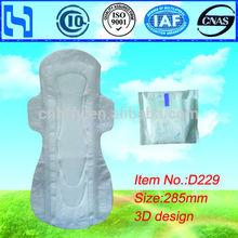 OEM High Absorbent whisper pad sanitari napkin