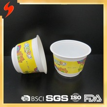 High quality 1L OEM printed Plastic Disposable Bowl with Lid