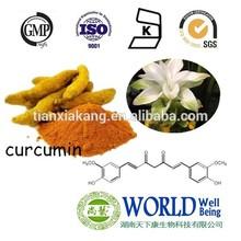 Natural Water Soluble Nano Curcumin/Organic Turmeric Curcumin Powder/Turmeric Root Extract Powder 95% Curcumin