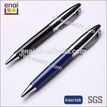 China factory shiny black business pen embossed metal pen EN103