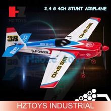 Hot 2.4G 4CH stunt airplane radio controlled airplane, rc model plane.