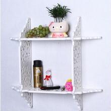 Modern bedroom folding carved decoration wall shelf