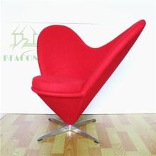 2015 Hot selling Verner Panton Fabric Woolen Heart Chair