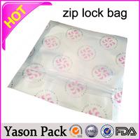 Yason vacuum sealing zip lock plastic bags mylar zip bags custom printed shopping plastic bags