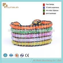 [Nafulin]Mothers Day You Are My Sunshine Bracelet Multicolor Crochet Bracelet