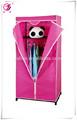 De color rosa de tela sencilla armario