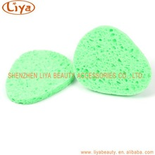 Multi shape natural cellulose sponge puff for facial cleaning