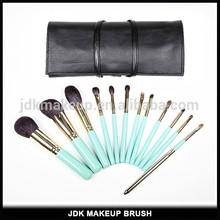 Private Label 14pcs Makeup Brush/High End Goat Hair Makeup Brush PU Pouch/Wholesale Makeup Brush