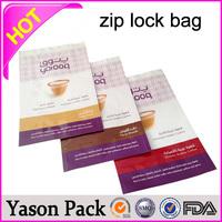 YASON zipper standup plastic packaging bag freezer food ziplock bag with writing panel jewelry mini zipper pouch