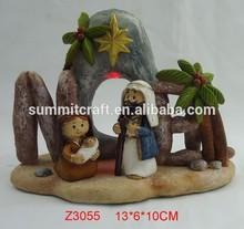 polyresin 3d baby jesus birth craft