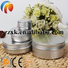 Aluminum Tin Can, Screw Top Round Tin Cans, Aluminum Tea Jars