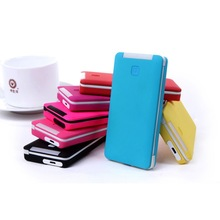 Portable smart power bank charger with 5000mAh for cellphone and other mobile device
