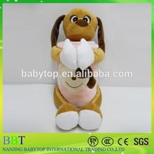 plush baby dog blanket/Custom design plush dog animal blanket/baby blanket animal pattern
