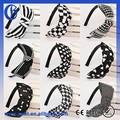 wide headbands plástico rígido cabeça de plástico preto e branco de plástico trecho headbands