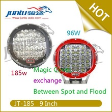"9"" 96W/ 185w 18000LM 9-32v dc 3W/Diode 5W/Diode IP67 waterproof led driving light 12\/24v"