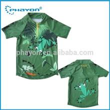 <OEM Service> Allover print Rash guard for boy, cute animal print rash guard for young boy