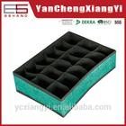 18 dividers foldable sock divider storage box Linen-like Green lingerie storage box